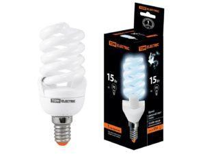 Лампа энергосберегающая КЛЛ-FSТ2-15 Вт-4000 К–Е14 (42х103 мм) TDM SQ0323-0059