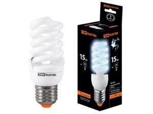 Лампа энергосберегающая КЛЛ-FSТ2-15 Вт-4000 К–Е27 (42х103 мм) TDM SQ0323-0068