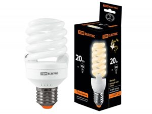 Лампа энергосберегающая КЛЛ-FSТ2-20 Вт-2700 К–Е27 (50х107 мм) TDM SQ0323-0064