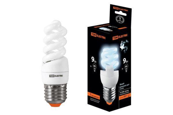 Лампа энергосберегающая КЛЛ-FSТ2-9 Вт-4000 К–Е27 (32х99 мм) TDM SQ0323-0065