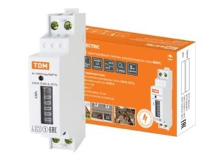 Счетчик без поверки (измеритель потребляемой электроэнергии) МАРС-б/п-1,0-11-Р1-5(40)-М (1ф, 1тар, din-рейка, 1мод, мех.ОУ) TDM SQ1105-0020