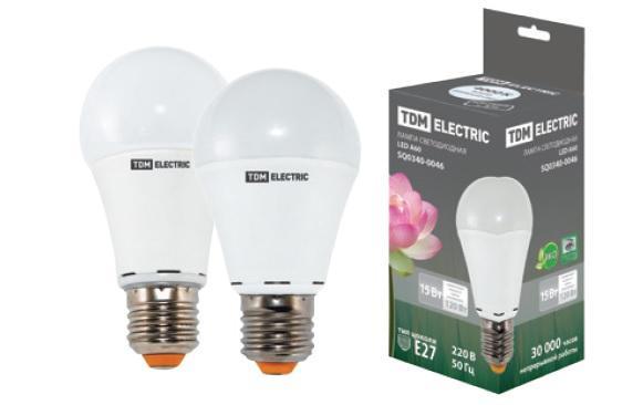 Лампа светодиодная А60 - 15 Вт-220 В -3000 К–E27 TDM SQ0340-0012