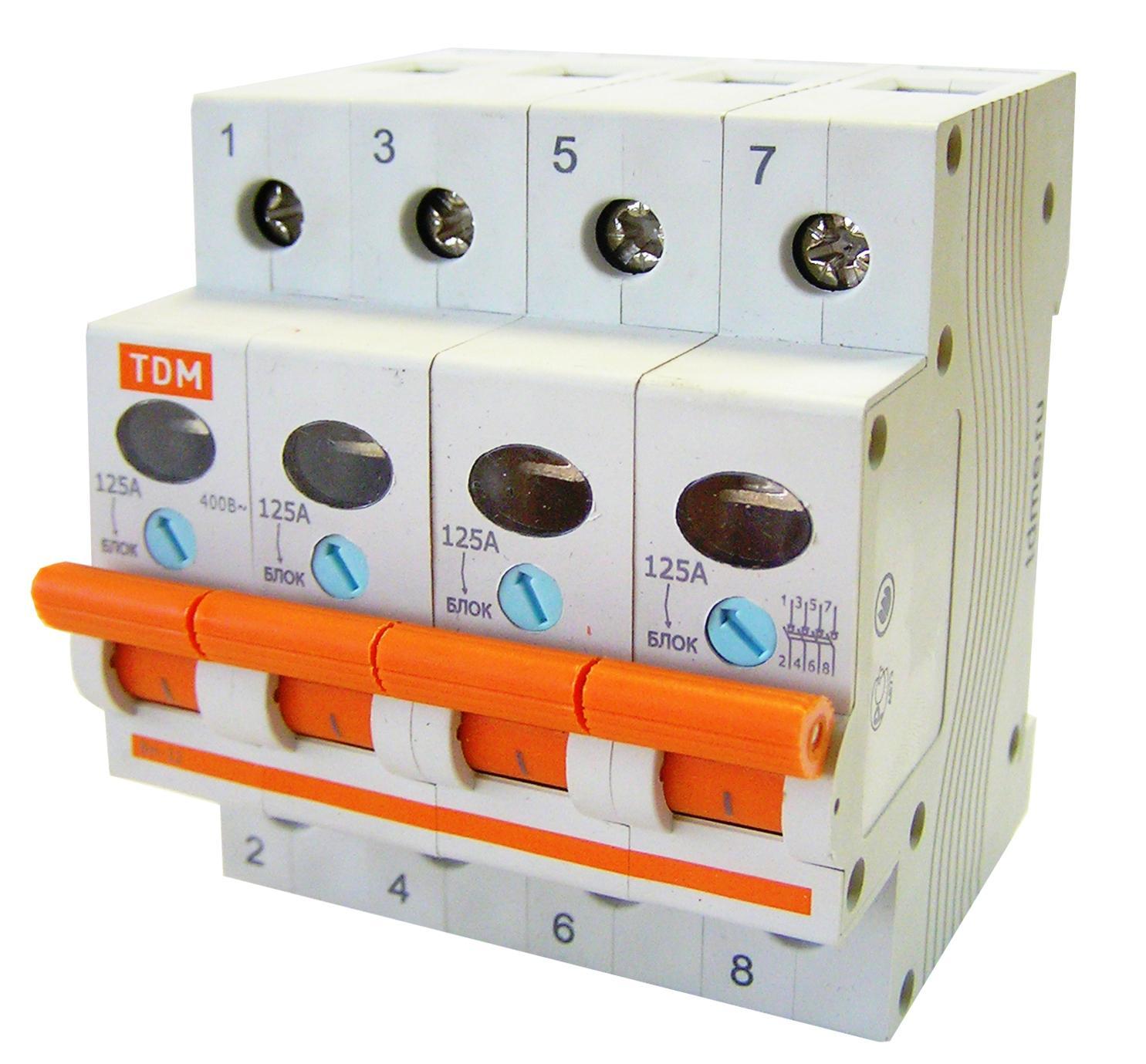 Выключатель нагрузки (мини-рубильник) ВН-32 4P 32A TDM SQ0211-0034