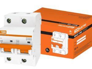 Автоматический выключатель ВА47-100 2Р 125А 10кА х-ка D TDM; SQ0207-0094