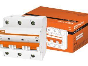 Автоматический выключатель ВА47-100 3Р 125А 10кА х-ка D TDM; SQ0207-0095