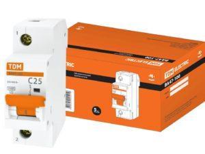Авт. выкл. ВА47-100 1Р 25А 10кА х-ка С TDM SQ0207-0048