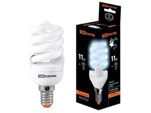 Лампа энергосберегающая КЛЛ-FSТ2-11 Вт-4000 К-Е14 (40х93 мм) TDM SQ0323-0057
