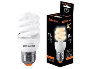 Лампа энергосберегающая КЛЛ-FSТ2-11 Вт-2700 К–Е27 (40х93 мм) TDM SQ0323-0061