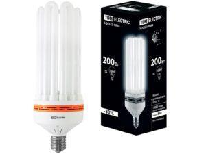 Лампа энергосберегающая КЛЛ-8U-200 Вт-6500 К–Е40 (125х363 мм) TDM SQ0323-0084