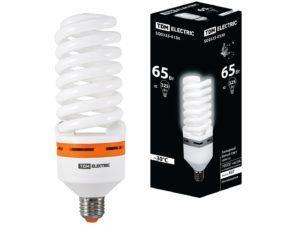 Лампа энергосберегающая КЛЛ-FS-65 Вт-4000 К–Е27 (73х218 мм) TDM SQ0323-0130