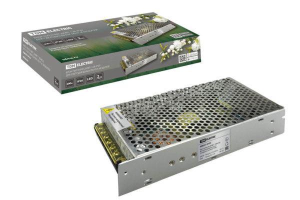 Блок питания 200Вт-12В-IP20 для светодиодных лент и модулей, металл TDM SQ0331-0133