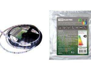 Лента светодиодная SMD5050-30 LED/м-IP65-12 В-7,2 Вт/м-RGB (5 м) TDM SQ0331-0319