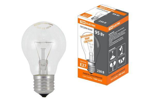 Лампа накаливания общего назначения Б95 Вт-230 В-Е27 TDM SQ0332-0038