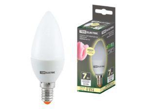 Лампа светодиодная FС37-7 Вт-230 В -3000 К–E14 TDM SQ0340-0172