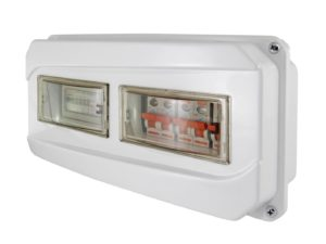 Щит учета ЩРН-12-1ф 167х350х111 мм пластиковый IP55 TDM SQ0906-0502