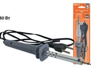 """Паяльник электрический ПЭ-40 с жалом типа """"конус"""", в комплекте подставка, 40 Вт, """"Гранит"""" TDM SQ1025-0201"""