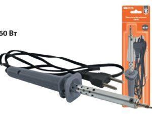 """Паяльник электрический ПЭ-60 с жалом типа """"конус"""", в комплекте подставка, 60 Вт, """"Гранит"""" TDM SQ1025-0202"""