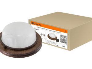 Светильник НПБ1101 венге круг 100Вт IP54