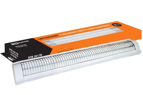 Светильник ЛПБ3017В (с решеткой) 2х18 Вт Т8/G13 TDM SQ0305-0068