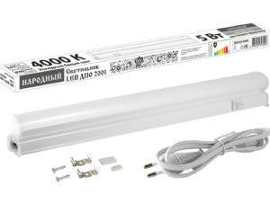 Светильник LED ДПО 2001 5 Вт, 4000К, IP40, 300 мм, Народный SQ0329-0068