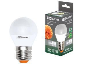 Лампа светодиодная FG45-7 Вт-230 В-3000 К–E27 TDM SQ0340-0178