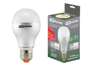 Лампа светодиодная Груша - 6 Вт - 220 В - 3000 К – E27 TDM SQ0340-0066