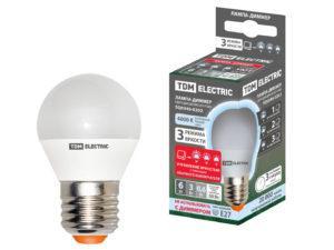 "Лампа светодиодная FG45-6 Вт-230 В-4000 К–E27 ""Лампа-ДИММЕР"" TDM SQ0340-0202"