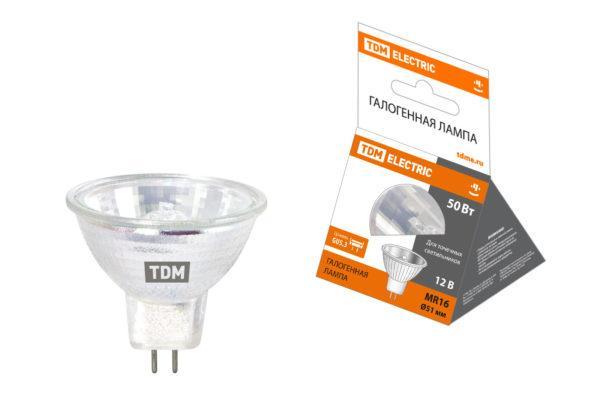 Лампа галогенная с отражателем MR16 - 50 Вт - 12 В - GU5.3 TDM SQ0341-0007