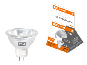Лампа галогенная с отражателем MR16 (JCDR) - 35 Вт - 230 В - GU5.3 TDM SQ0341-0008