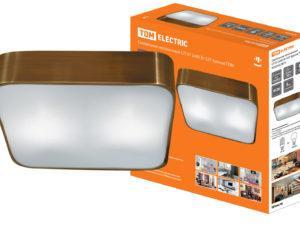 Светильник потолочный СП 07 2х60Вт E27 бронза TDM SQ0346-0015