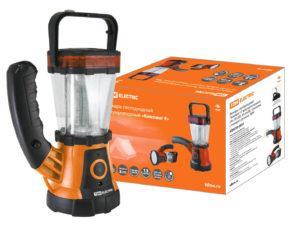 """Фонарь светодиодный """"Кемпинг 4"""" аккумуляторный, 24+19 LED, 44 лм/Вт, 3 режима с поворот. ручкой, TDM SQ0350-0031"""
