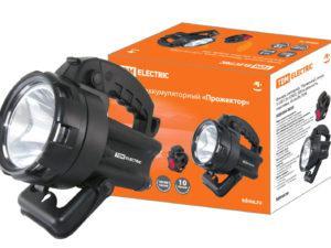 """Фонарь светодиод. """"Прожектор"""", аккум. 1 LED 3 Вт (CREE), 300 м дальность, подставка, 44 лм/Вт, TDM SQ0350-0035"""