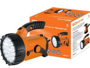 """Фонарь светодиод. """"Прожектор"""", аккум. 23+18 LED, поворот. ручка и подставка, 28 лм/Вт, TDM SQ0350-0036"""
