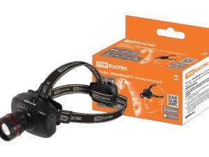 Фонарь «Налобный 7» аккумуляторный, 1Вт 1 светодиод, 0,6 Ач, фокус. TDM SQ0350-0046