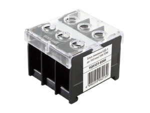Блок зажимов БЗД-3 до 10,0 мм2 50A TDM SQ0531-0305