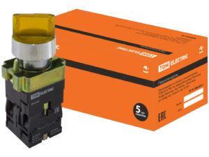 Переключатель BK 2565 2 положения желтый 1з+1р TDM SQ0703-0016