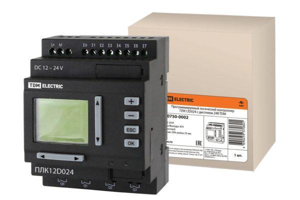 Программируемый логический контроллер ПЛК12D024 с дисплеем 24В TDM SQ0750-0002