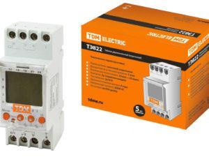 Таймер электронный ТЭ822-2кан-1мин/7дн-44on/off-16А-DIN TDM SQ1503-0003