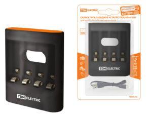Зарядное устройство 36044 (3600 mA 4 слота АА/ААА 4 кан.USB) TDM SQ1702-0100