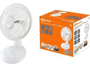 """Вентилятор настольный ВС-01 """"Тайфун"""" D15 см, 20 Вт, 230 В, белый, TDM SQ2701-0002"""