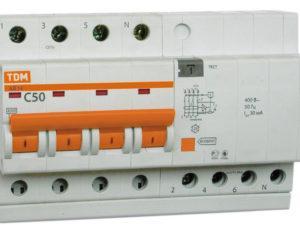 Дифференциальные автоматы АД14, 4Р 4.5кА тип АС