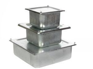 Коробки протяжные металлические открытой установки