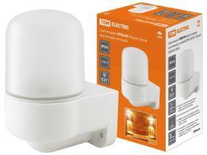 Светильник НПБ400-2 для сауны настенный, угловой, IP54, 60 Вт, белый, TDM SQ0303-0050