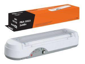 Светильник аварийный ЛБА 3923 непостоянный автономный, 3 ч., 2х8 Вт TDM SQ0308-0001