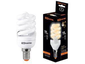 Лампа энергосберегающая КЛЛ-FSТ2-11 Вт-2700 К–Е14 (40х93 мм) TDM SQ0323-0053