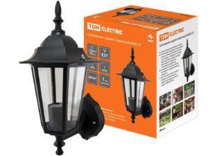 Светильник 6060-01 садово-парковый шестигранник, 60Вт, вверх, черный TDM SQ0330-0001