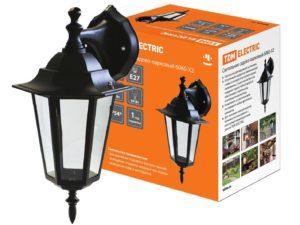 Светильник 6060-02 садово-парковый шестигранник, 60Вт, вниз, черный TDM SQ0330-0002