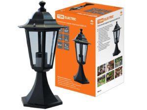 Светильник 6060-04 садово-парковый шестигранник, 60Вт, стойка, черный TDM SQ0330-0004