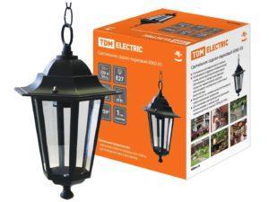 Светильник 6060-05 садово-парковый шестигранник, 60Вт, подвес, черный TDM SQ0330-0005