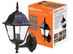 Светильник 4060-11 садово-парковый четырехгранник, 60Вт, вверх, бронза SQ0330-0031